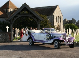 Vintage style Beauford for weddings in Romsey